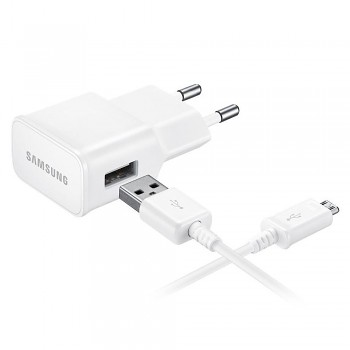 Originální rychlonabíječka Samsung EP-TA20EWE + micro USB bílá 2A