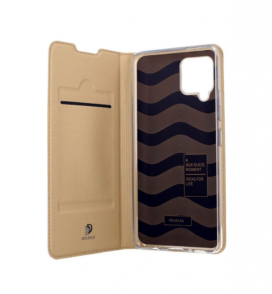 Knížkové pouzdro Dux Ducis na Samsung A42 zlaté (2)