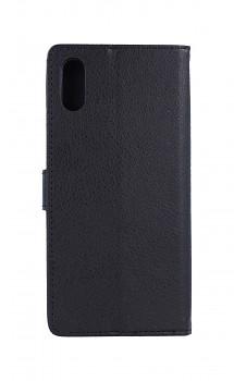 Pouzdro kryt na mobil Xiaomi Redmi 9A knížkové černé s přezkou (2)