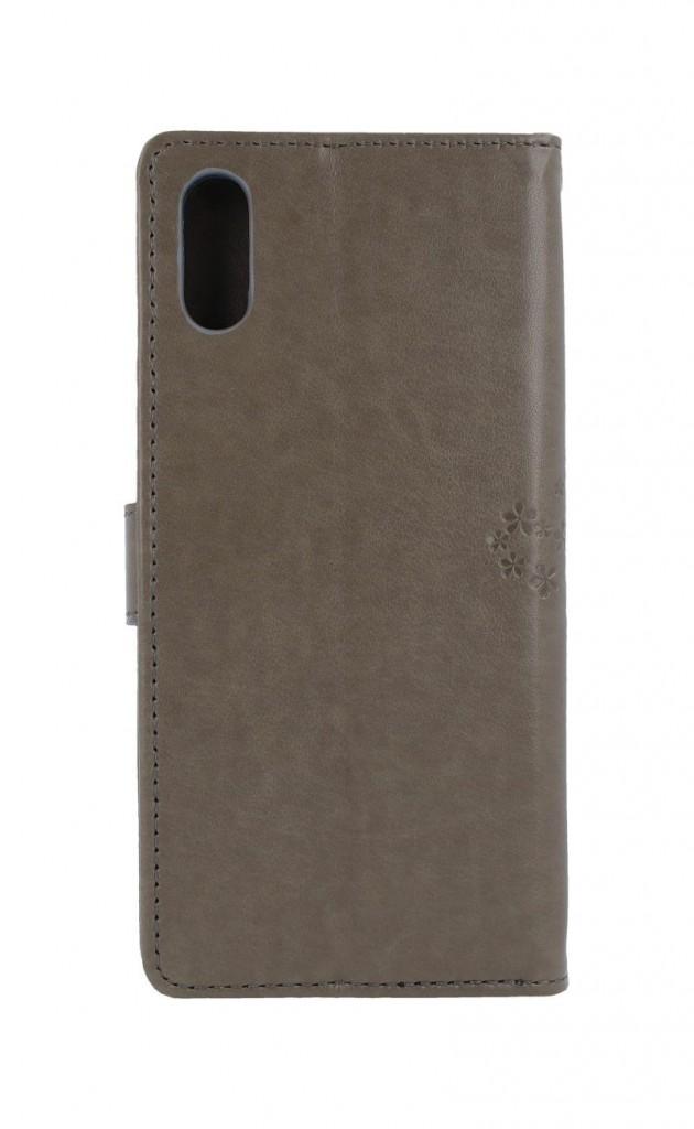 Pouzdro kryt na mobil Xiaomi Redmi 9A Šedý stom sovičky (2)