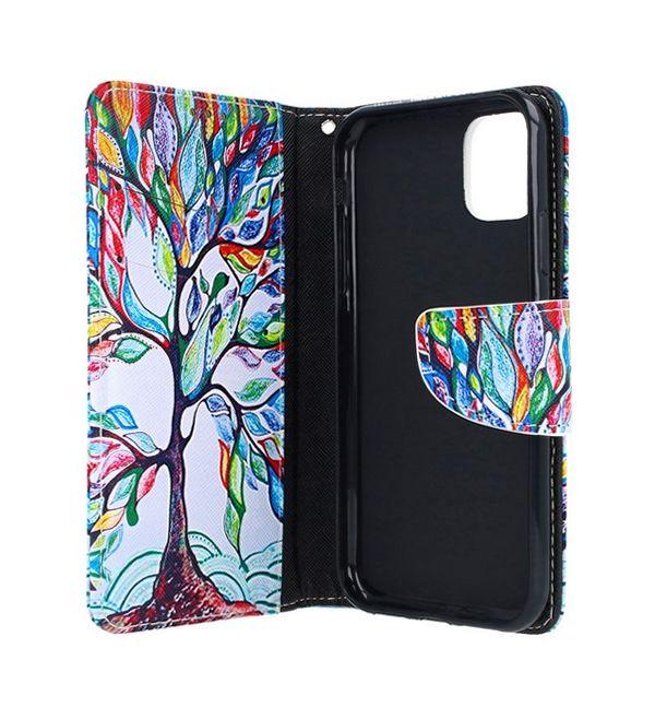 Knížkové pouzdro na iPhone 11 Barevný strom (2)