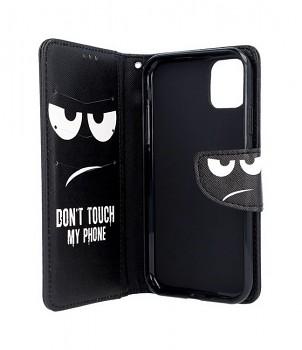 Knížkové pouzdro na iPhone 11 Don't Touch (2)