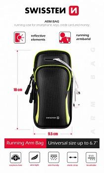 Univerzální sportovní pouzdro na ruku Swissten Arm Bag