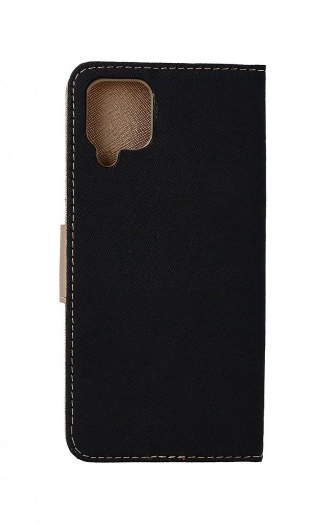 Knížkové pouzdro na Samsung A12 černo-zlaté