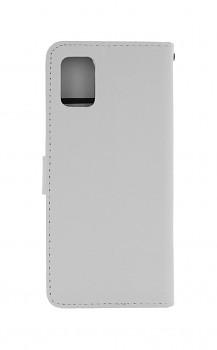 Knížkové pouzdro na Samsung A31 bílé s přezkou