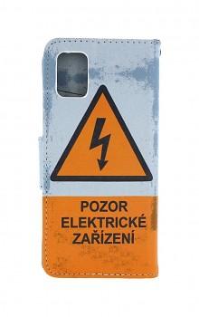 Knížkové pouzdro na Samsung A31 Pozor elektrické zařízení