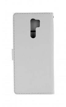 Knížkové pouzdro na Xiaomi Redmi 9 bílé s přezkou