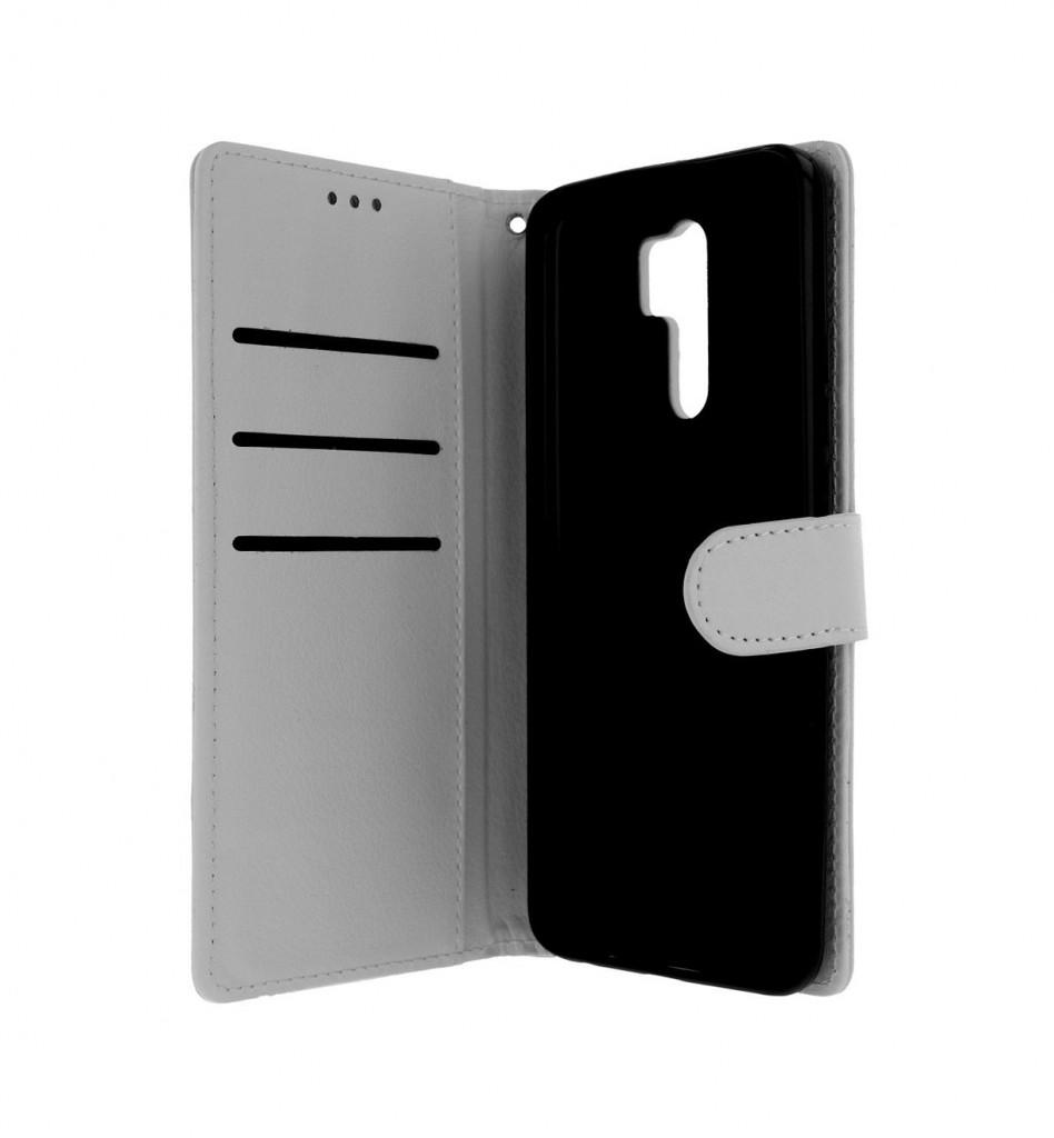 Knížkové pouzdro na Xiaomi Redmi 9 bílé s přezkou (2)