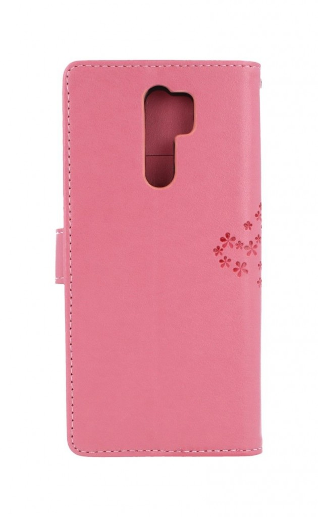 Knížkové pouzdro na Xiaomi Redmi 9 Růžový strom sovičky
