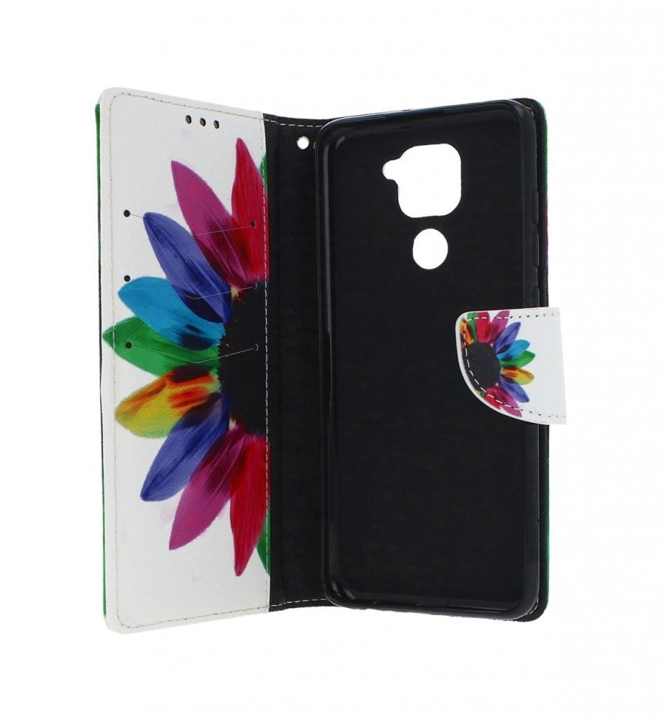 Knížkové pouzdro na Xiaomi Redmi Note 9 Barevná květina (2)