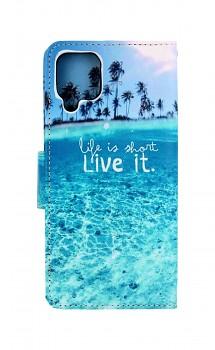 Knížkové pouzdro na Samsung A12 Moře