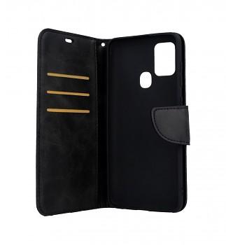 Knížkové pouzdro na Samsung A21s Classic černé (2)
