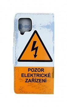 Knížkové pouzdro na Samsung A42 Pozor elektrické zařízení