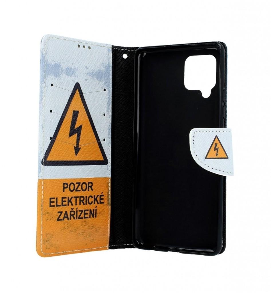 Knížkové pouzdro na Samsung A42 Pozor elektrické zařízení (2)