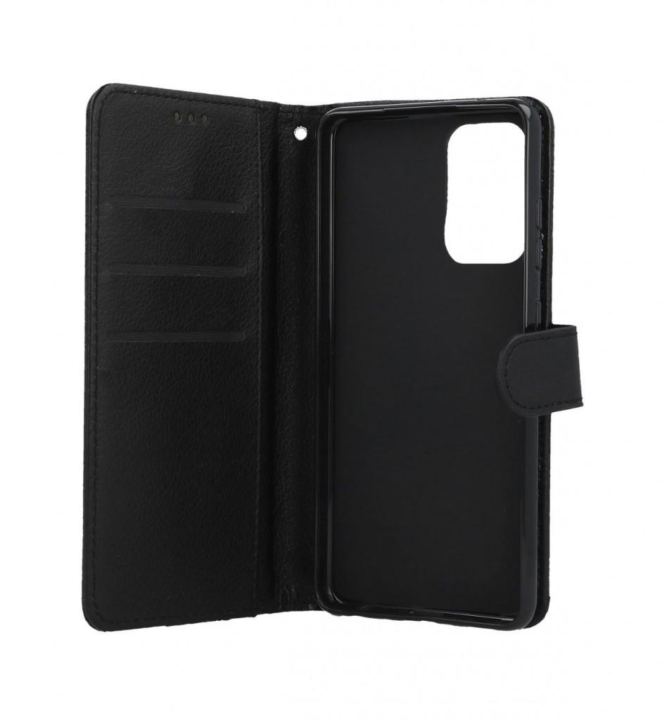 Knížkové pouzdro na Samsung A52 černé s přezkou (2)