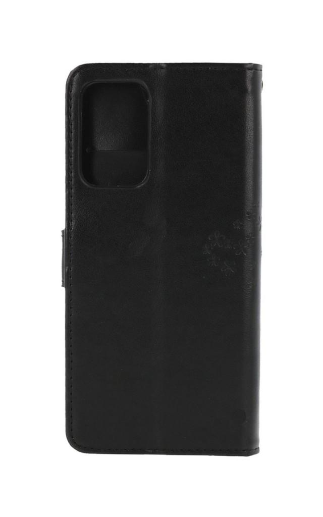 Knížkové pouzdro na Samsung A52 Černý strom sovičky