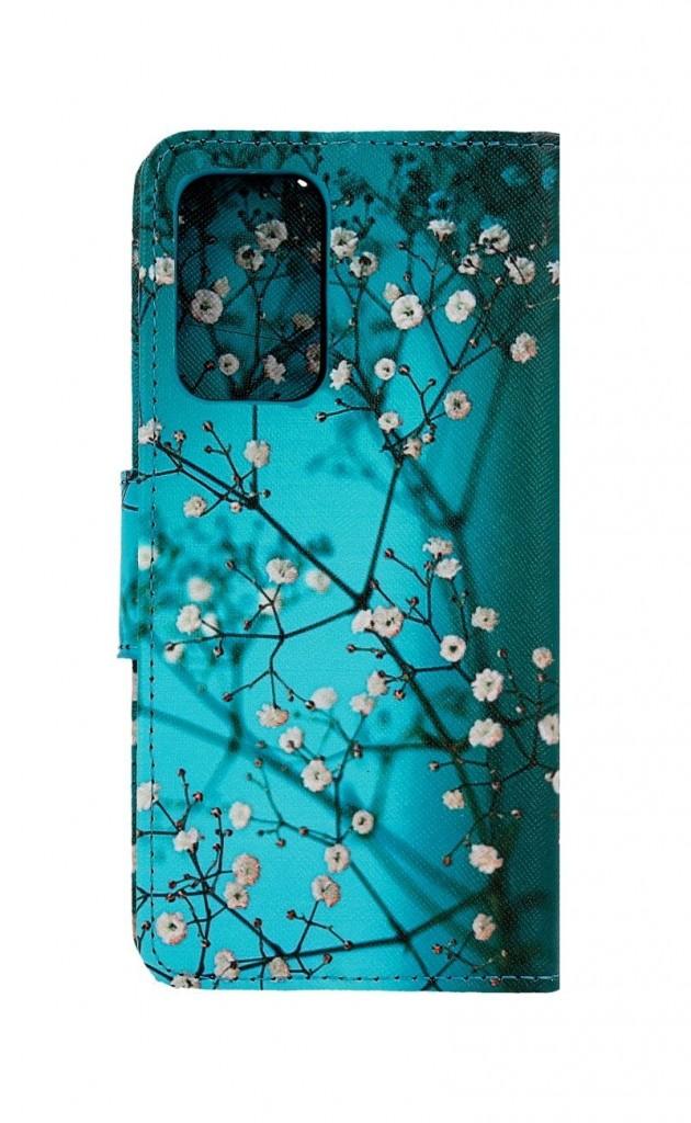 Knížkové pouzdro na Samsung A52 Modré s květy