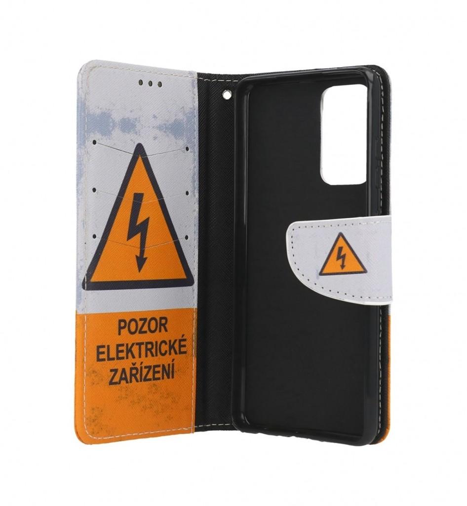 Knížkové pouzdro na Samsung A52 Pozor elektrické zařízení (2)