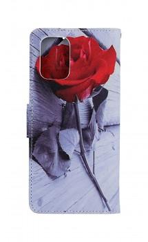 Knížkové pouzdro na Xiaomi Redmi Note 10 Červená růže