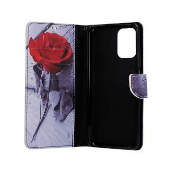 Knížkové pouzdro na Xiaomi Redmi Note 10 Červená růže (1)