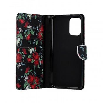 Knížkové pouzdro na Xiaomi Redmi Note 10 Květy růží (1)