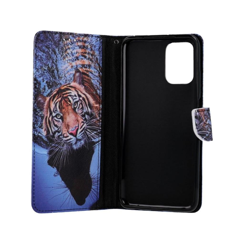 Knížkové pouzdro na Xiaomi Redmi Note 10 Tygr (1)