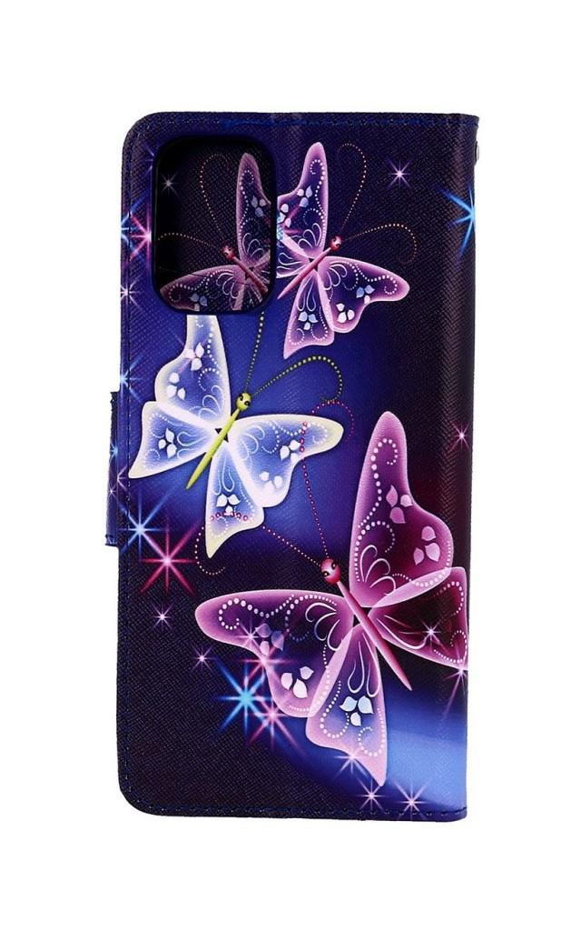 Knížkové pouzdro na Xiaomi Redmi Note 10 Modré s motýlky