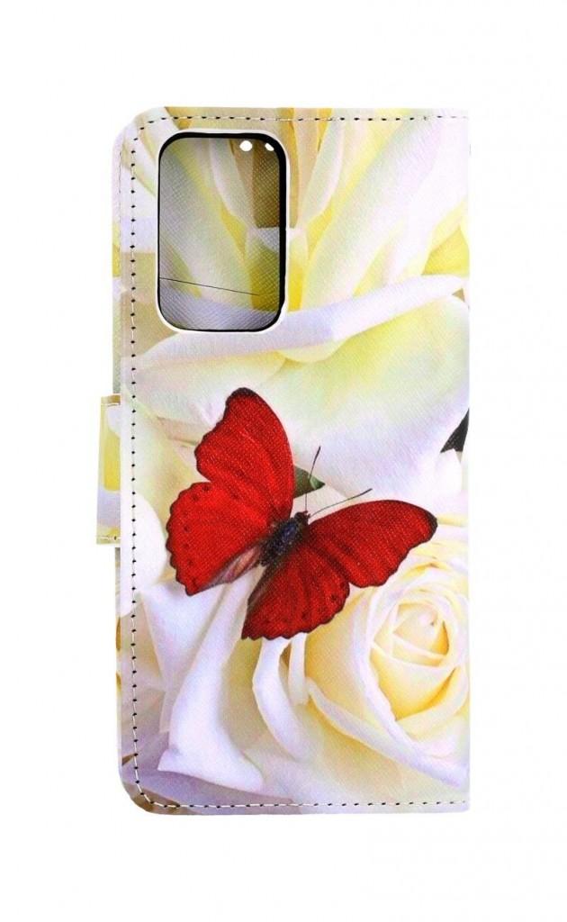 Knížkové pouzdro na Xiaomi Redmi Note 10 Pro Červený motýl