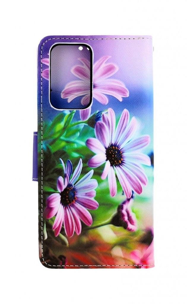 Knížkové pouzdro na Xiaomi Redmi Note 10 Pro Fialové květy