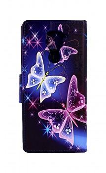 Knížkové pouzdro na Xiaomi Redmi Note 9 Modré s motýlky