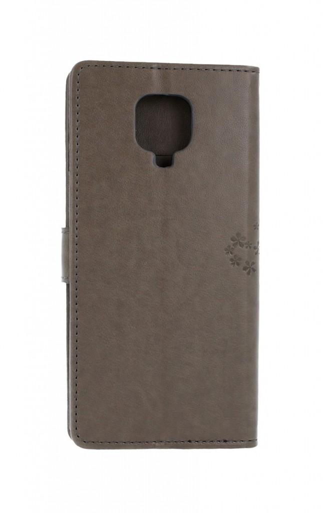 Knížkové pouzdro na Xiaomi Redmi Note 9 Pro Šedý strom sovičky