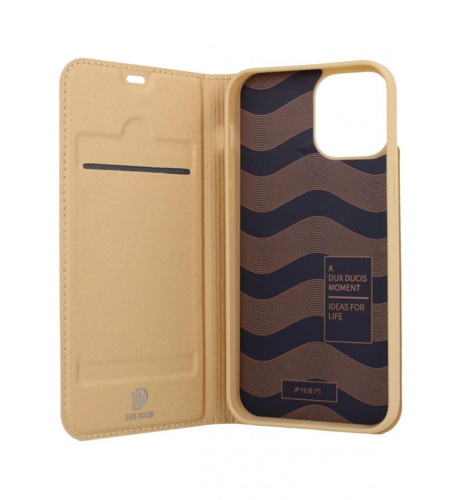 Knížkové pouzdro Dux Ducis na iPhone 12 Pro zlaté (2)