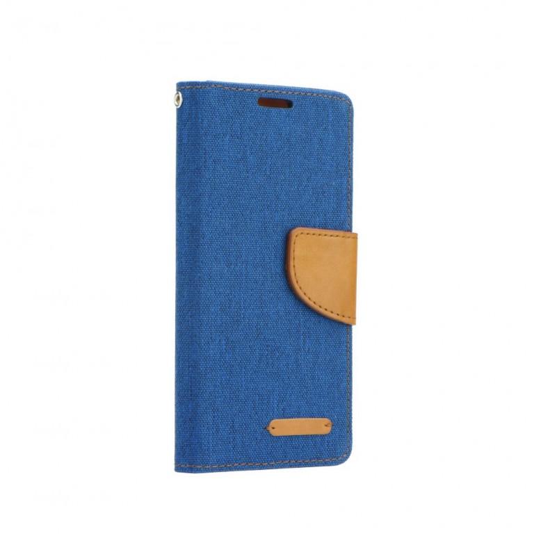 Pouzdro Canvas iPhone 6 / 6s knížkové modré (kryt neboli obal na mobil iPhone 6 / 6s) 10533