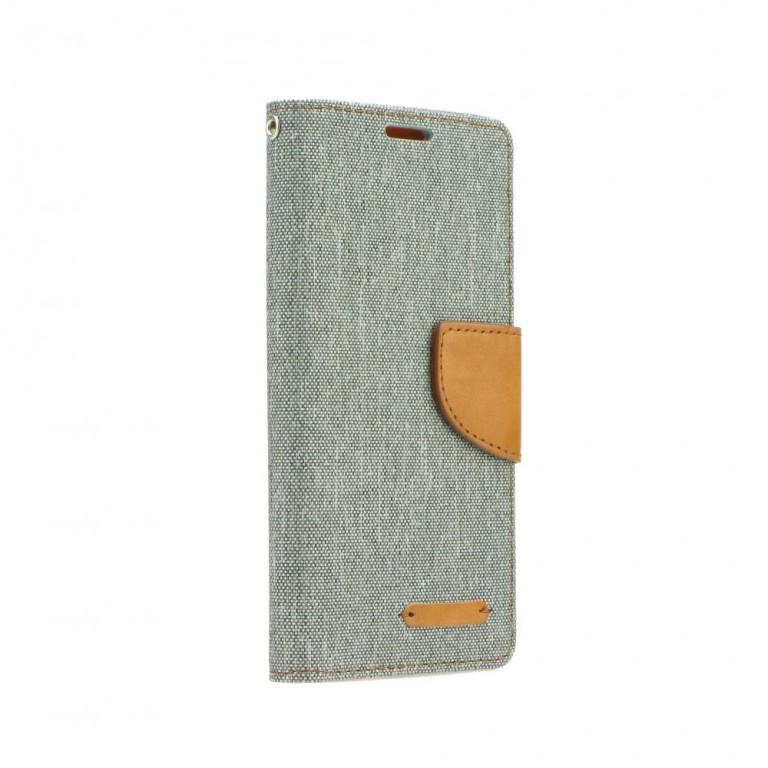 Pouzdro Canvas iPhone 6 / 6s knížkové šedé (kryt neboli obal na mobil iPhone 6 / 6s) 10535