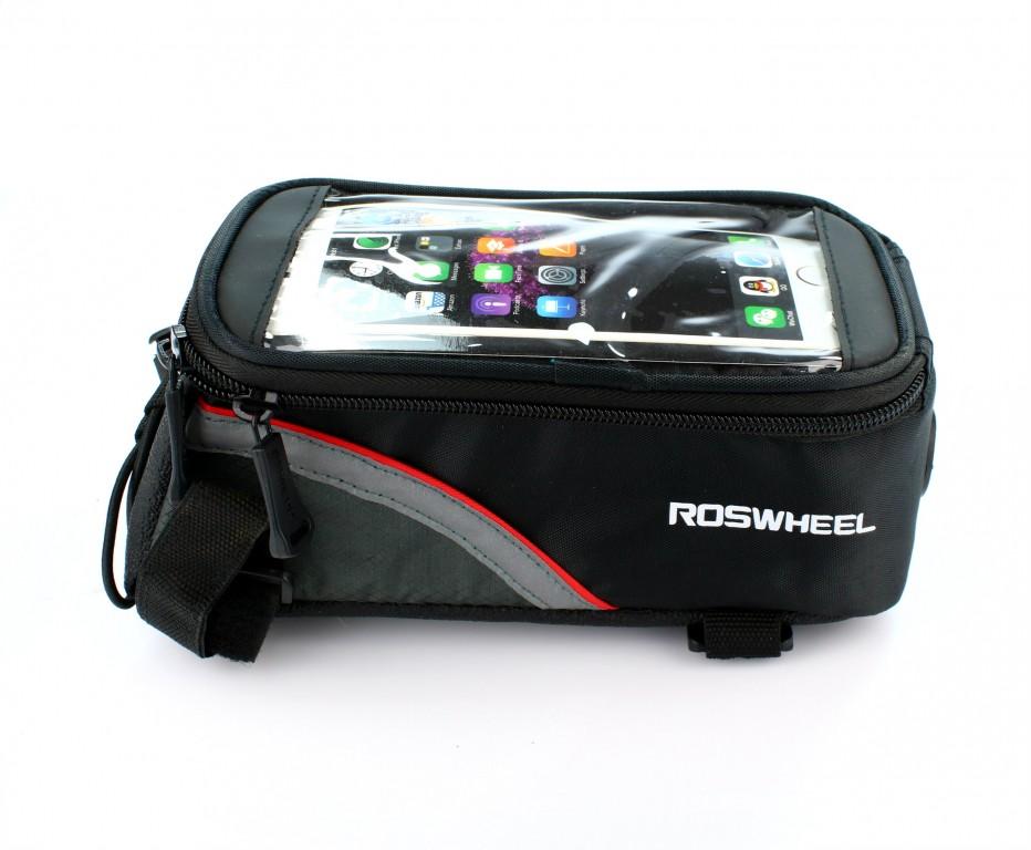 Pouzdro Roswheel na kolo černo - červené (držák na kolo černo-červený)