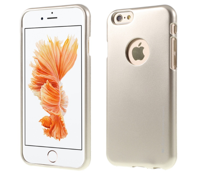 Pouzdro Mercury iJelly Metal Apple iPhone 7 silikon zlatý (kryt neboli obal na mobil iPhone 7)