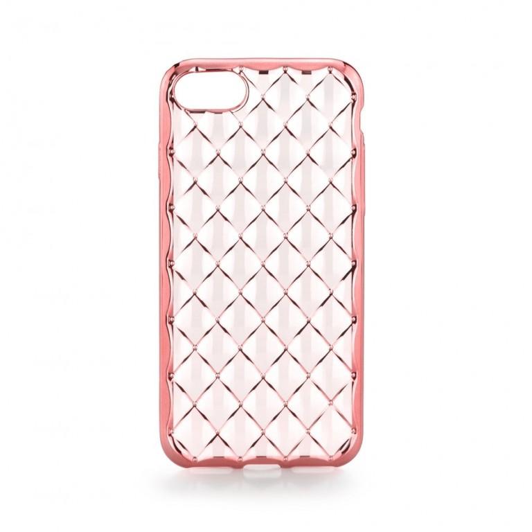 Pouzdro Luxury Jelly iPhone 7 silikon růžový (kryt neboli obal na mobil iPhone 7)