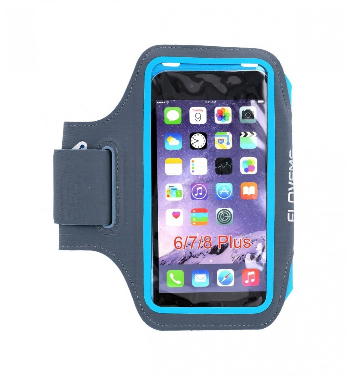 Sportovní pouzdro na ruku FLOVEME velikost L modré (sportovní pouzdro neboli obal velikost L)