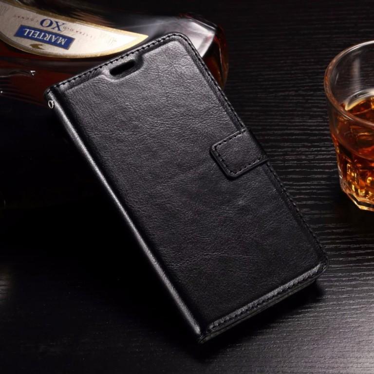 Pouzdro TopQ Huawei Y6 II knížkové černé (kryt neboli obal na mobil Huawei Y6 II)
