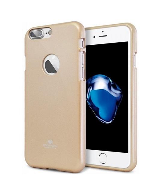 Pouzdro Mercury Jelly Case iPhone 7 silikon zlatý (kryt neboli obal na mobil iPhone 7)
