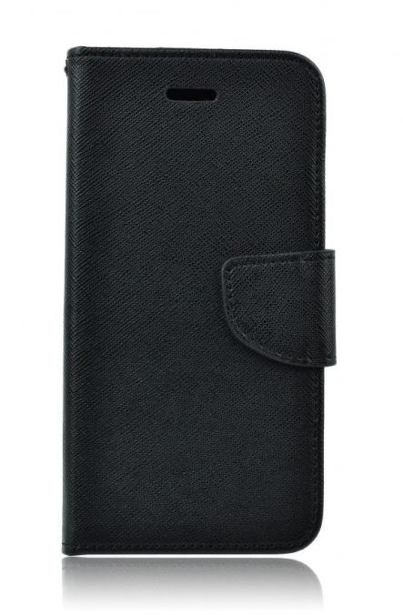 Pouzdro TopQ Samsung A3 2017 knížkové černé (kryt neboli obal na mobil Samsung A3 2017 A320F)