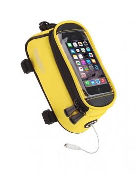 Pouzdro Roswheel pro mobilní telefon na kolo žluté 5,5''