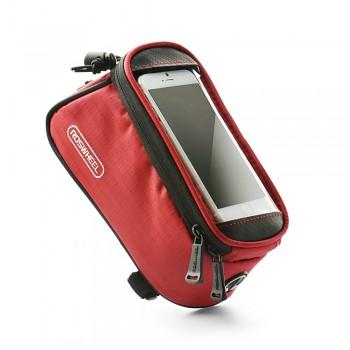 Pouzdro Roswheel pro mobilní telefon na kolo červené 4,8''