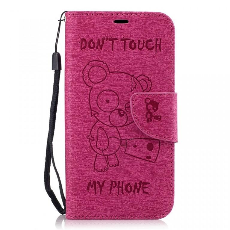 Obal TopQ Samsung A5 2017 medvídek růžový tmavý (kryt neboli pouzdro na Samsung A5 2017)