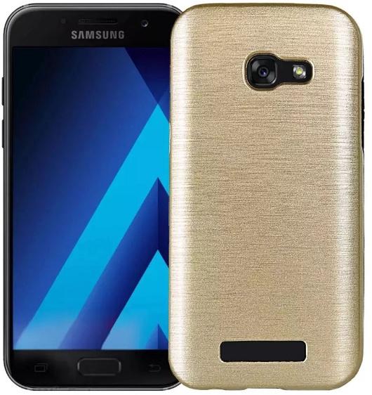 Pouzdro TopQ Samsung A3 2017 zlaté (kryt neboli obal na Samsung A3 2017 A320)