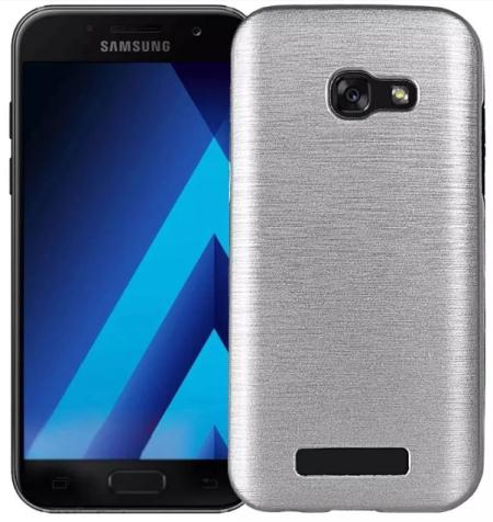 Pouzdro TopQ Samsung A5 2017 stříbrné (kryt neboli obal na Samsung A5 2017 A520)