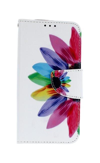 Pouzdro TopQ Samsung J5 2017 knížkové barevná květina (kryt neboli obal Samsung J5 2017 J520F)