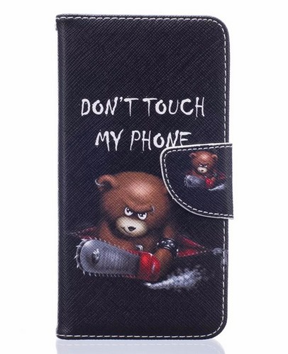 Pouzdro TopQ Asus ZenFone 3 Max ZC553KL knížkové Dont touch méďa 16929 (kryt neboli obal Asus ZenFone 3 Max ZC553KL)