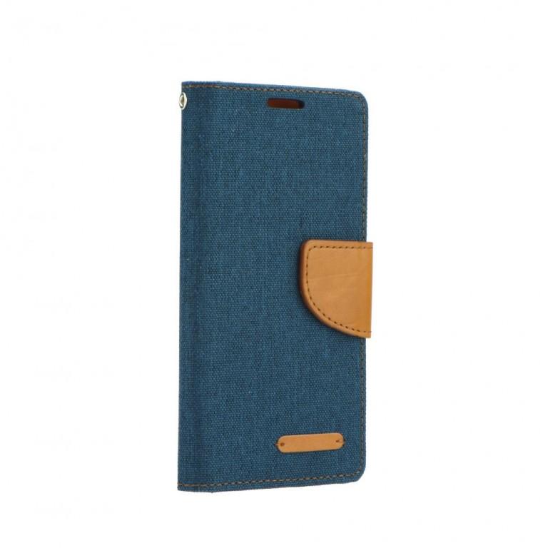 Pouzdro Canvas iPhone 7 knížkové modré tmavé 16952 (kryt neboli obal na mobil iPhone 7)