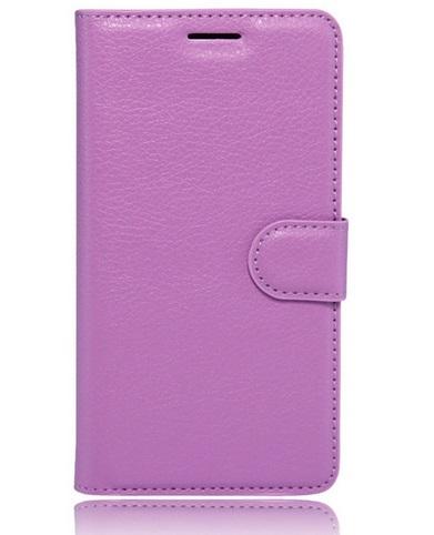 Pouzdro TopQ Huawei P10 Lite knížkové fialové s přezkou 17528 (kryt neboli obal na mobil Huawei P10 Lite)